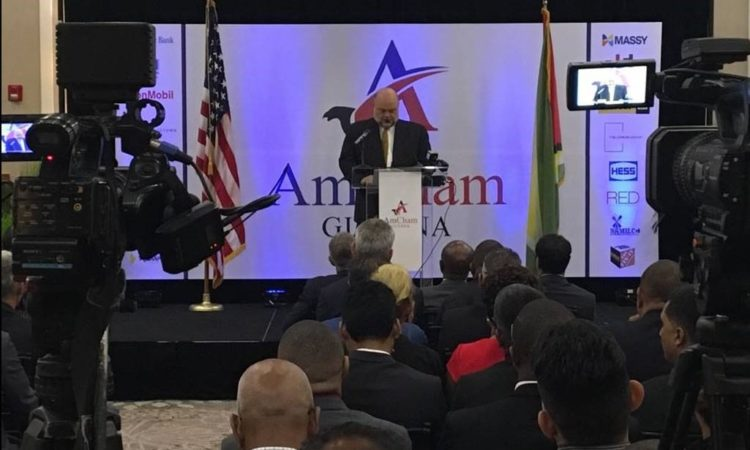 Ambassador Holloway at AMCHAM Guyana Launch