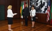 Ambassador Lynch presents Credentials to President Granger
