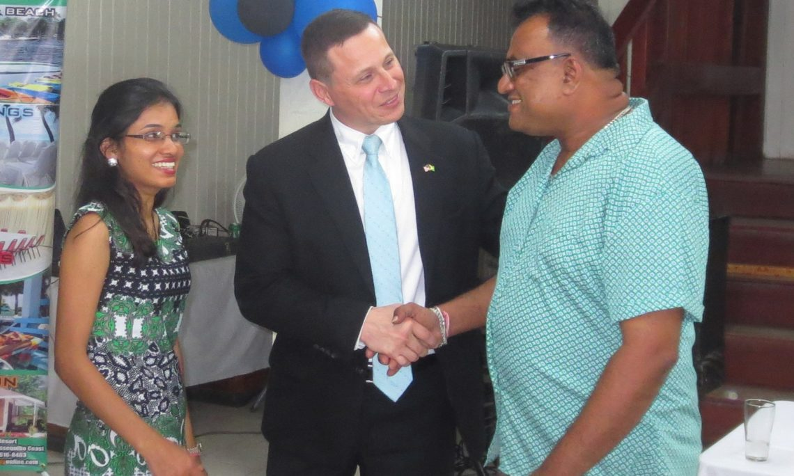 Chargé d'Affaires with members of the Essequibo Chamber of Commerce
